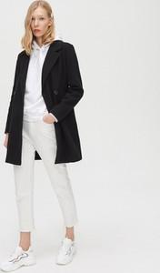 Czarny płaszcz Cropp w stylu casual
