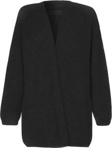 Czarna bluzka By Malene Birger z dekoltem w kształcie litery v z wełny z długim rękawem