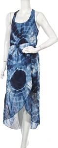 Niebieska sukienka Okay maxi na ramiączkach asymetryczna