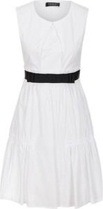 Sukienka Twinset trapezowa bez rękawów z okrągłym dekoltem
