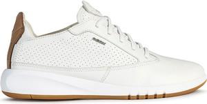 Buty sportowe Geox sznurowane ze skóry