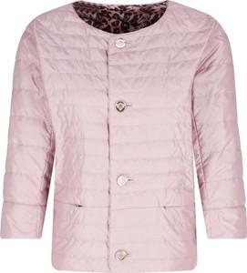Różowa kurtka Diego M w stylu casual