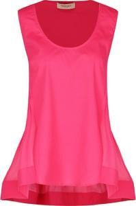Różowa bluzka Twinset bez rękawów