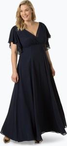 Granatowa sukienka Swing Curve