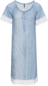 Błękitna sukienka bonprix RAINBOW