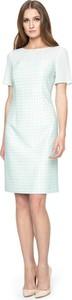 Sukienka POTIS & VERSO z szyfonu midi z krótkim rękawem