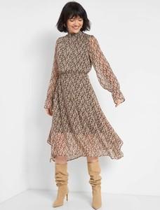 Sukienka ORSAY z tkaniny asymetryczna z długim rękawem