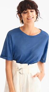 T-shirt Yessica Premium w stylu casual z krótkim rękawem z okrągłym dekoltem
