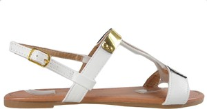 Sandały Kokietki z klamrami z płaską podeszwą