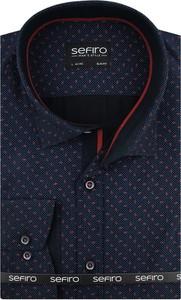 Niebieska koszula Sefiro z kołnierzykiem button down