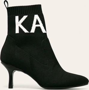 Botki Karl Lagerfeld na obcasie ze skóry