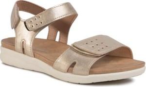 Złote sandały Clara Barson w stylu casual