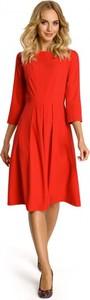Czerwona sukienka MOE midi