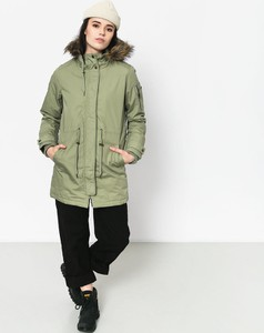 Zielona kurtka Element z bawełny w stylu casual długa