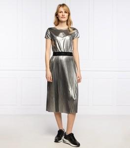 Sukienka Armani Exchange midi z krótkim rękawem