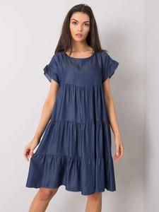 Sukienka Sheandher.pl z okrągłym dekoltem