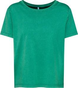 Zielona bluzka Only w stylu casual z krótkim rękawem