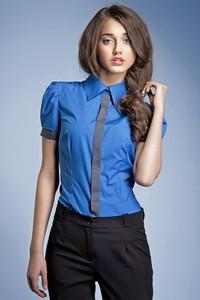 Niebieska koszula Nife z krótkim rękawem
