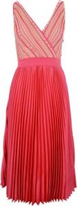 Czerwona sukienka Guess mini z dekoltem w kształcie litery v