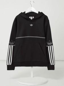 Czarna bluza dziecięca Adidas Originals z bawełny