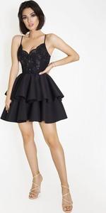 Czarna sukienka Marcelini na ramiączkach