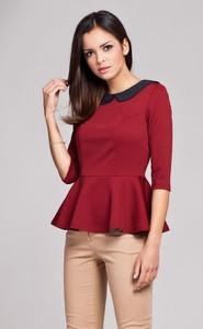 Czerwona bluzka Figl z dzianiny