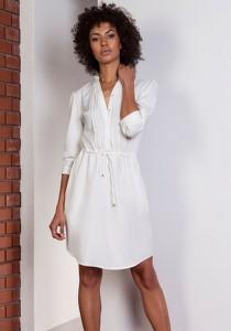 Sukienka Lanti z długim rękawem koszulowa w stylu casual