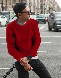 Czerwona bluza Dstreet
