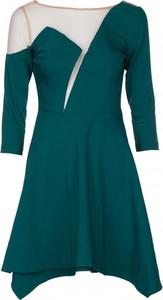 Sukienka VISSAVI mini asymetryczna w stylu casual