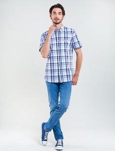 Niebieska koszula Big Star z bawełny w stylu casual