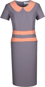 Sukienka Fokus z krótkim rękawem z tkaniny