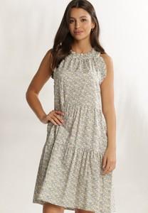 Miętowa sukienka Renee bez rękawów