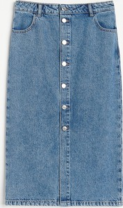 Niebieska spódnica Reserved z jeansu