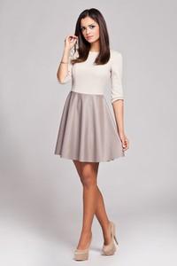Sukienka Figl z długim rękawem mini ze skóry ekologicznej