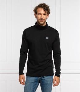 Czarny sweter Pepe Jeans z golfem w stylu casual