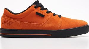 Cropp - Trampki z naturalnej skóry - Pomarańczowy