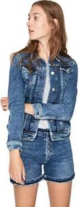 Niebieska kurtka Pepe Jeans krótka w stylu casual