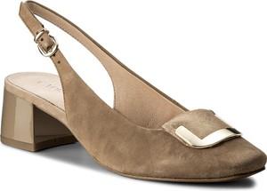 Sandały caprice ze skóry w stylu casual