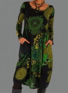 Sukienka Sandbella z okrągłym dekoltem w stylu boho