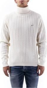 Sweter Sun 68 z golfem w stylu casual