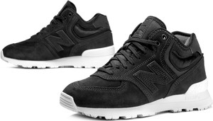 Czarne buty sportowe New Balance w stylu casual sznurowane z płaską podeszwą