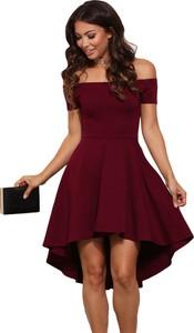 Elegrina elegancka sukienka cicci czerwona bez ramiączek