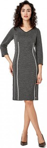 Sukienka POTIS & VERSO z tkaniny z dekoltem w kształcie litery v