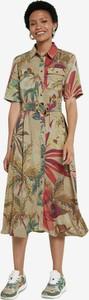 Sukienka Desigual w stylu casual z krótkim rękawem midi