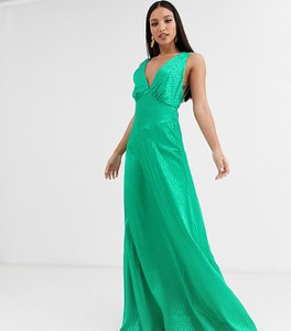 Zielona sukienka Flounce London Tall