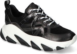 Buty sportowe Carinii na platformie ze skóry