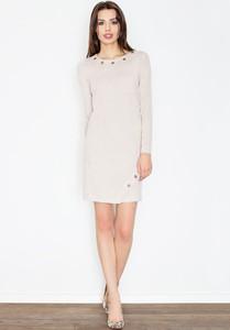 Sukienka sukienki.pl z okrągłym dekoltem mini