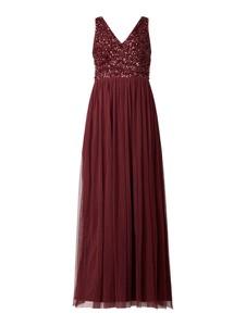 Czerwona sukienka Lace & Beads maxi bez rękawów