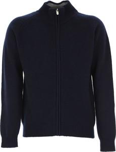Granatowy sweter Il Gufo z dzianiny