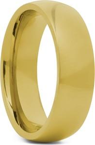 Trendhim Obrączka ze stali nierdzewnej w kolorze złota 6 mm